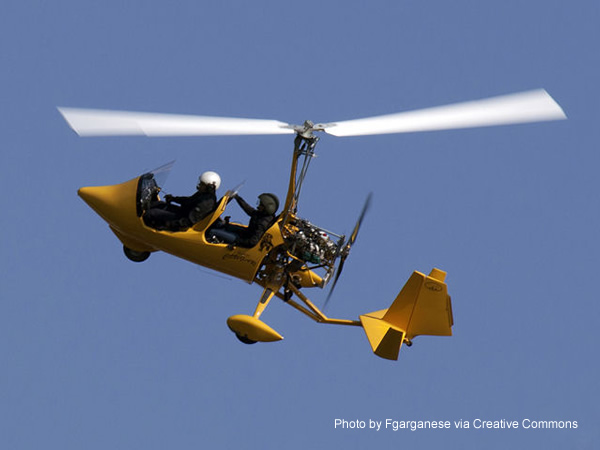 Sport Pilot Eligibility Requirements. A Light Sport Autogyro In Flight